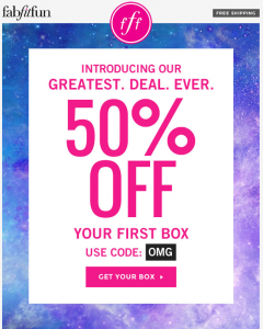 Get a 50% Off FabFitFun coupon code or promo code from sdjhyqqw.ml sdjhyqqw.ml has coupons & discount vouchers in December